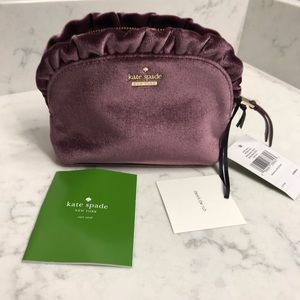 NWT Kate Spade Mini Marcy small purse. Velvet zip